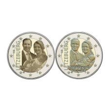 2 евро Люксембурга 2020 г. Рождение принца Чарльза (2шт)