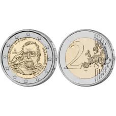 2 Евро Греции 2019 Г. 100 Лет Со Дня Рождения Манолиса Андроникоса