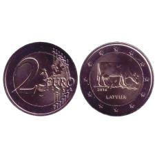 2 Евро Латвии 2016 Г., Латвийская Бурая Корова