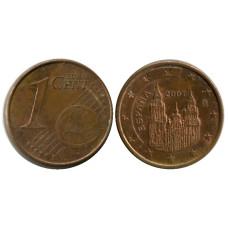 1 Евроцент Испании 2007 Г.