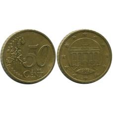 50 евроцентов Германии 2002 г. (D)