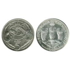 5 евро Сан-Марино 2007 г. Равные возможности