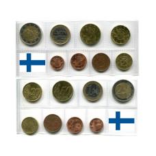 Набор Из 8-Ми Евро Монет Финляндии (разные Года)