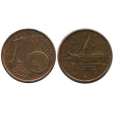 1 евроцент Греции 2011 г.