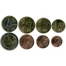 Набор из 8-ми евро монет Австрии 2021 г.