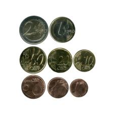 Набор из 8-ми евро монет Люксембурга 2021 г.