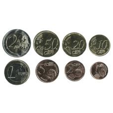 Набор из 8-ми евро монет Кипра 2021 г.