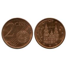 2 Евроцента Испании 2007 Г.