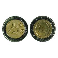 2 Евро Ирландии 2009 г., 10 Лет Экономическому и Валютному Союзу