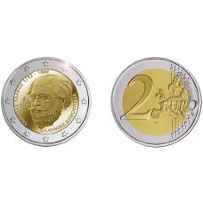 2 Евро Греции 2019 Г. 150 Лет Со Дня Смерти Андреаса Калвоса