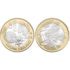 5 Евро Финляндии 2014 Г., Северная Природа - Дикая Природа