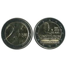2 Евро Люксембурга 2018 г., 150 Лет Конституции Люксембурга (AU)