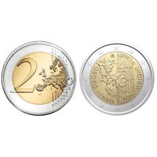2 Евро Финляндии 2016 Г. 100 Лет Со Дня Рождения Философа Георга Хенрика Фон Вригта