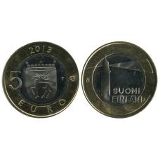 5 Евро Финляндии 2013 Г., Исторические Регионы Финляндии. Строения - Аланды