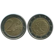 2 Евро Бельгии 2009 Г. 10 Лет Экономическому и Валютному Союзу
