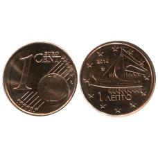 1 евроцент Греции 2014 г.
