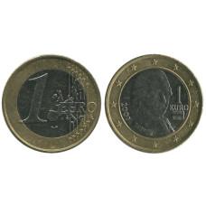 1 евро Австрии 2007 г.