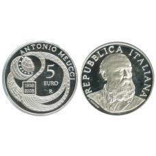 5 Евро Италии 2008 Г., 200 Лет Со Дня Рождения Антонио Меуччи