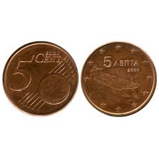 5 евроцентов Греции 2009 г.