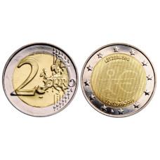 2 Евро Люксембурга 2009г.,10 Лет Экономическому И Валютному Союзу