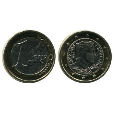 1 Евро Латвии 2014 Г.