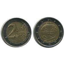 2 Евро Испании 2009 Г., 10 Лет Экономическому и Валютному Союзу