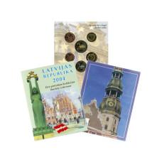 Набор Пробных Евро-Монет Латвии 2004 Г. 1