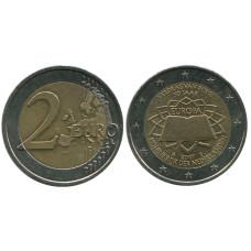 2 Евро Нидерландов 2007 Г., 50 Лет Подписания Римского Договора
