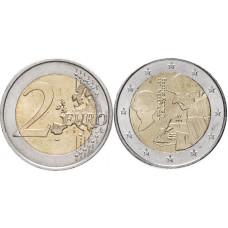 2 Евро Нидерландов 2011 Г., 500 Лет Издания Книги «Похвала Глупости» Эразма Роттердамского