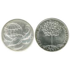5 Евро Италии 2003 Г. Дерево с плодами