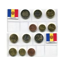 Набор из 6-ти евро монет Андорры 2014 г.