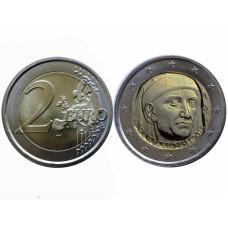 2 Евро Италии 2013 Г., 700 Лет Со Дня Рождения Джованни Боккаччо