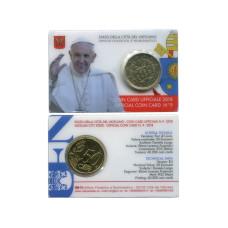 50 Евроцентов Ватикана 2018 Г. (№9, В Блистере)