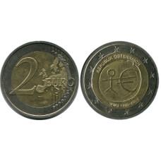 2 Евро Австрии 2009 г., 10 Лет Экономическому и Валютному Союзу
