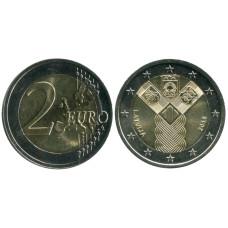 2 Евро Латвии 2018 Г., 100 Лет Независимости Прибалтийских Республик