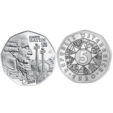 5 евро Австрии 2009 г., 200 лет со дня смерти композитора Йозефа Гайдна