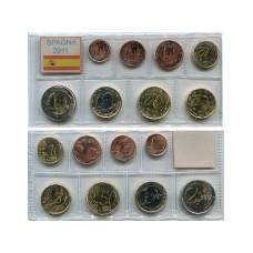Набор Из 8-Ми Евро Монет Испании 2011 Г.