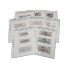 Комплект листов для бон с изображением денежных знаков полевого казначейства северо-западного фронта