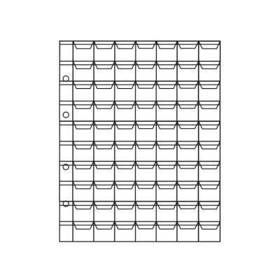 Лист для монет на 70 ячеек (ЛМ70кл-О)