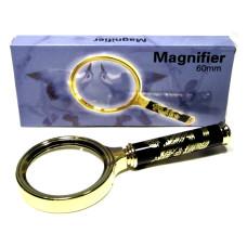 Лупа в золотой оправе «Magnifer» 60 мм (black)