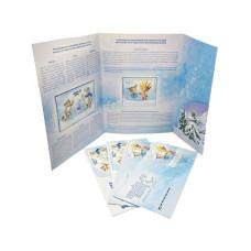 Лист марок с конвертами в буклете, Талисманы XXII Олимпийских зимних игр в Сочи, Первый день