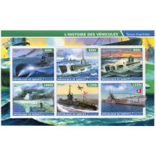 Лист марок Джибути 2015 г., История подводных лодок
