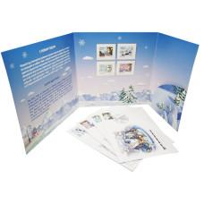 Лист марок с конвертами в буклете, Сочи 2014, Первый день