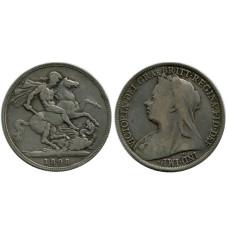 1 крона Англии 1898 г., Королева Виктория