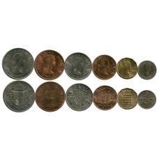 Набор из 6-ти монет Великобритании