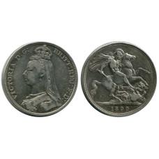 1 крона Англии 1890 г., Королева Виктория