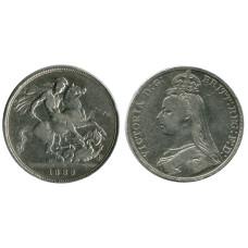 1 крона Англии 1889 г., Королева Виктория