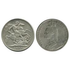 1 крона Англии 1892 г., Королева Виктория