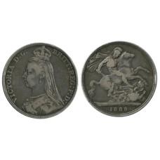 1 крона Англии 1889 г., Королева Виктория (1)