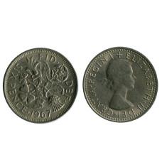 6 пенсов Великобритании 1967 г.